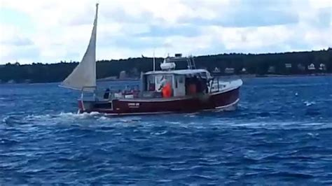 lobster boat videos lobster boats working in booth bay harbor maine youtube