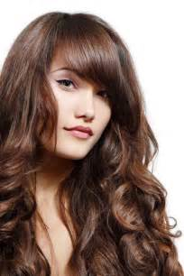 hairstyles for wavy thick hair with bangs