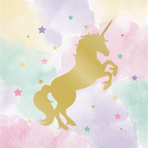 theme line unicorn my sweet pastel unicorn lunch napkins unicorn party theme
