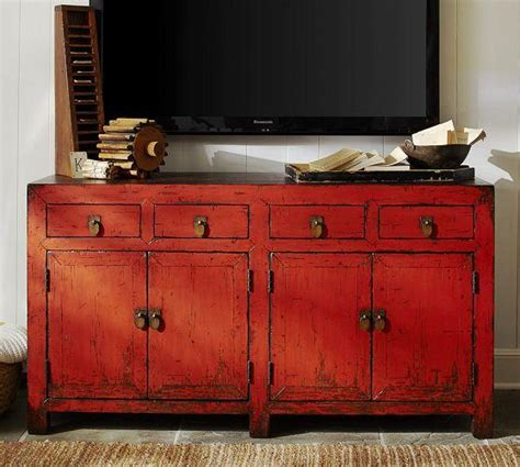 aiden media console from pottery barn home decorating