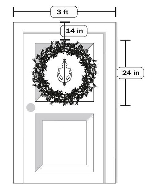 choose   size wreath  front door
