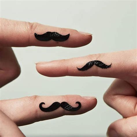 finger mustache tattoo 25 unique mustache tattoos