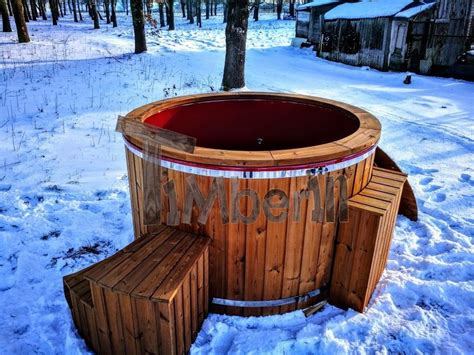 heated jacuzzi bathtub electricity heated outdoor jacuzzi thermo wood hot tub
