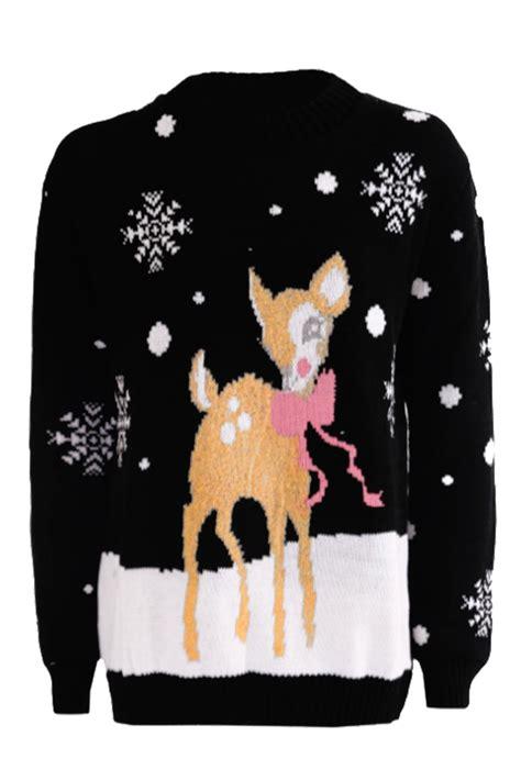 knitting pattern christmas jumper reindeer ladies women novelty xmas reindeer snowflakes christmas