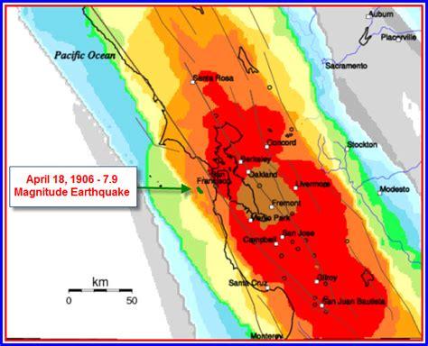 earthquake california bay area san francisco bay area earthquake probability map