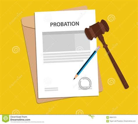 Probation Before Judgement Background Check Probate Illustrations Vector Stock Images 30