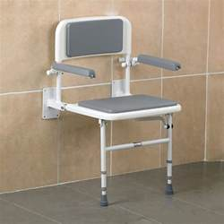 wall mounted shower seat with back and arms low prices