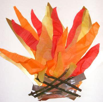 bonfire crafts for bonfire collage craft idea for