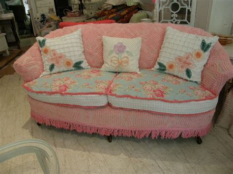 shabby chic slipcovered sofa shabby chic sofa slipcovered with vintage chenille