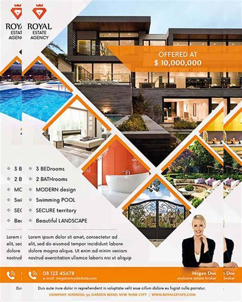real estate brochure templates psd free 20 real estate flyer designs psd vector eps ai