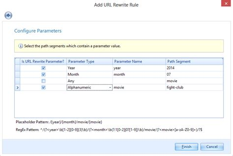 visitor pattern multiple arguments configure url rewrite rules to scan parameters in urls
