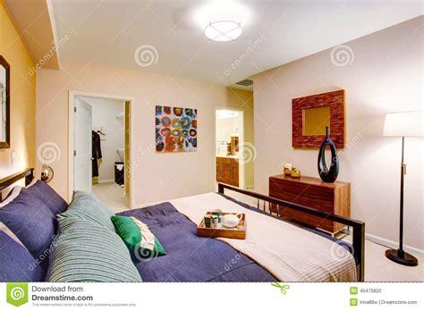elegant purple master bedroom modern master bedroom stock photo image of estate inside