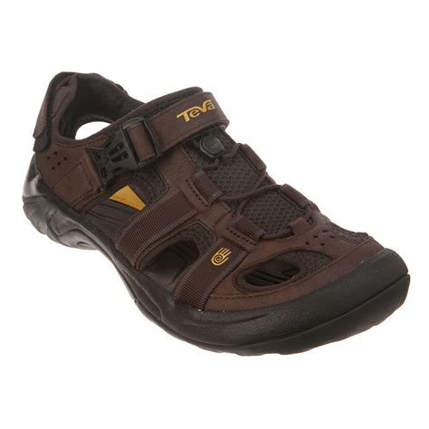teva sandals smell lyst teva omnium leather in brown for