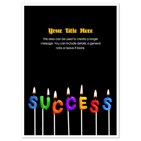 free success card templates success candles invitations cards on pingg
