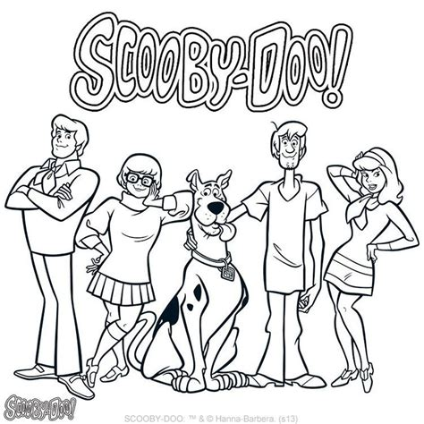 Scooby Doo Coloring Page Coloring Pages For Kids Scooby Doo Coloring Pages