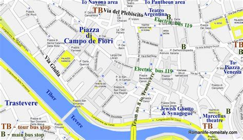 hotels in co de fiori quarter rome map usa maps us country maps