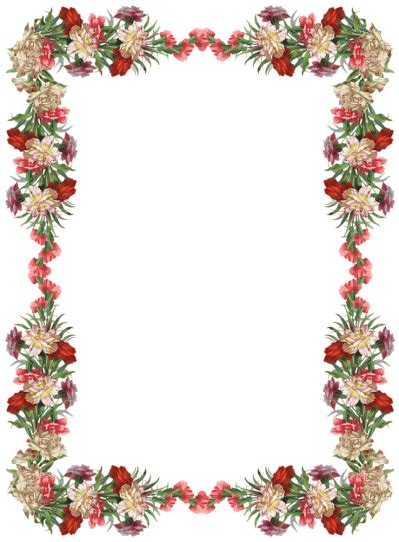 floral pattern border png download flowers borders free png transparent image and