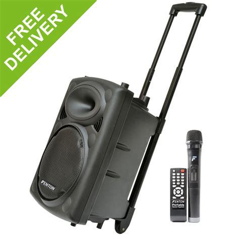 Mic Speaker Bluetooth Mic Karaoke fenton fps10 portable pa karaoke bluetooth speaker system