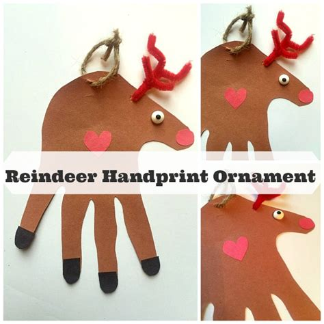 child handprint ornament how to make a reindeer handprint ornament family focus