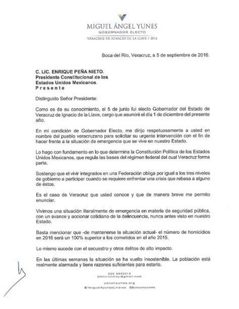carta formal de la inseguridad manda carta a presidencia mayl solicitando apoyo para frenar a delincuencia en veracruz plumas