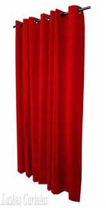 Red Drapes With Grommets Cherry Red 72 Quot H Velvet Curtain Panel W Metal Grommet Top