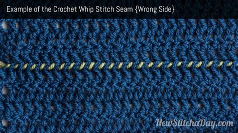 whip stitch knitting how to crochet the whip stitch seam newstitchaday