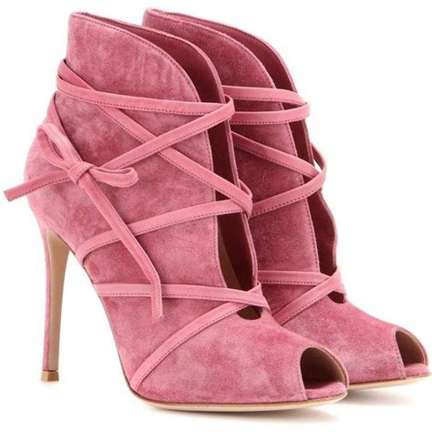 pink high heeled boots best 25 suede ankle boots ideas on suede