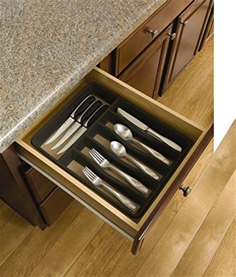 kitchen tray storage new rubbermaid non slip large cutlery flatware