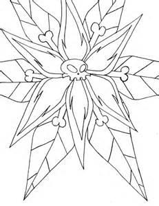 Outline Drawings by Skull Flower Outline By Enerdyte On Deviantart