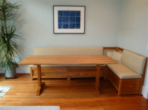 table for banquette custom banquettes and benches from vermont furniture makers
