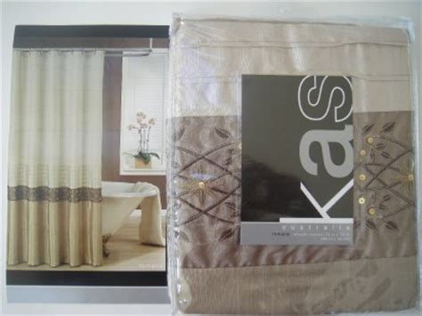 kas shower curtain kas quot romana quot fabric shower curtain brown bronze taupe ebay