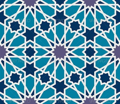blue islamic pattern arabesque seamless pattern in blue and grey geometric
