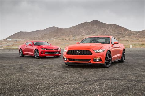 Mustang Vs Camaro by Comparison 2016 Chevrolet Camaro Rs Vs 2016 Ford Mustang