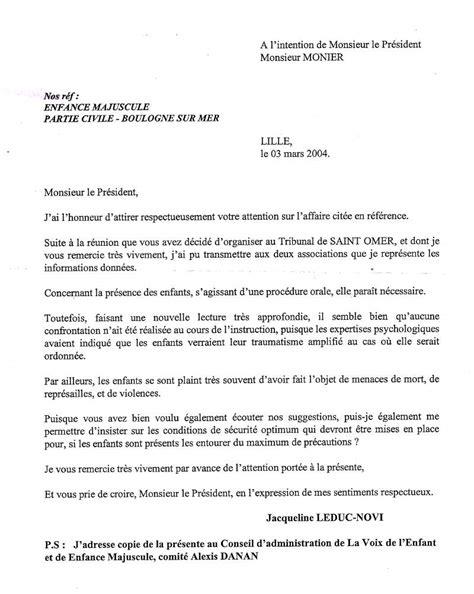 Exemple De Lettre Pour Un Juge Rtf Lettre A Un Juge D