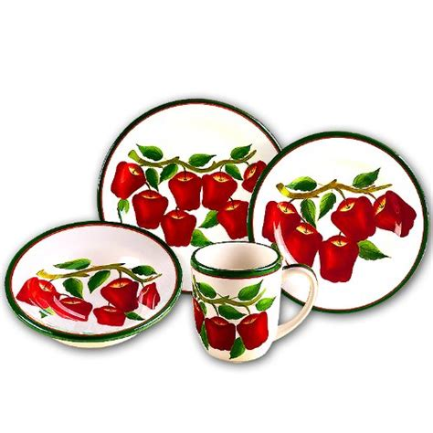 apple dishes apple 16 pc dinner dish set dishes dinnerware new 7 00