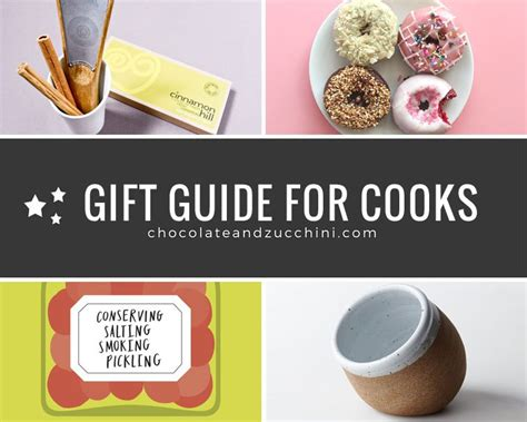 gifts for cooks gift guide for cooks 2015 chocolate zucchini
