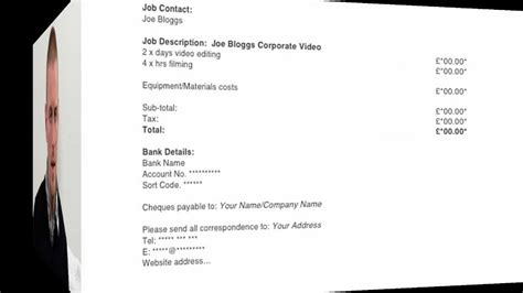 video production invoice template invitation template
