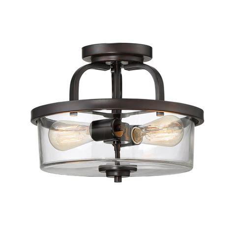 bronze semi flush mount light filament design 2 light bronze semi flushmount ect