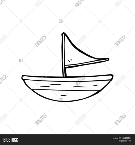 boat cartoon black and white simple black white line drawing vector photo bigstock