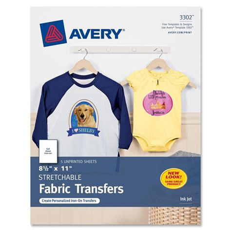 avery iron on transfers dark instructions avery iron on transfer paper letter 8 50 quot x 11 quot 0