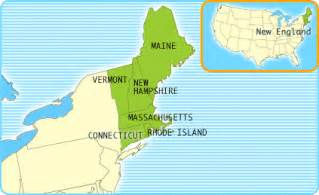 Where Is New England On The Map by Maps United States Map New England