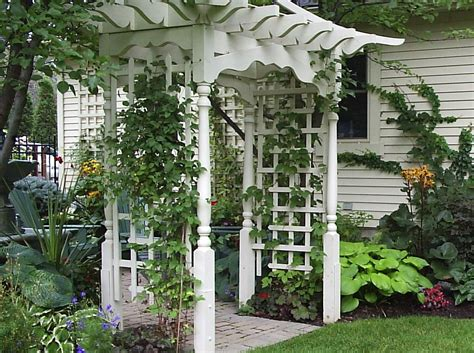How To Build An Arbor On An Uneven Surface Ehow Uk Garden Pergolas And Arbors