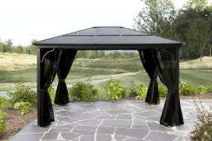 10 X 12 Maestrale Steel Top Gazebo by Grand Resort Nevada 10ft X 12ft Aluminum Panel Hard Top