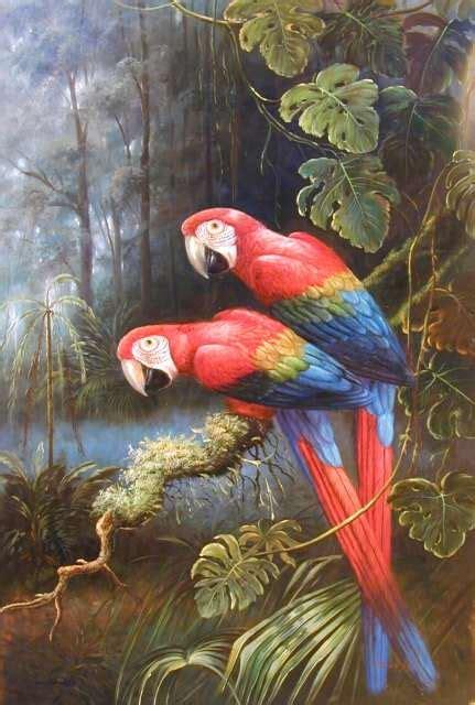 Lukisan Burung Custom birds arton painting