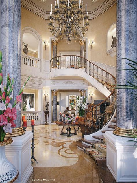Luxury villa staircase interior design ideas