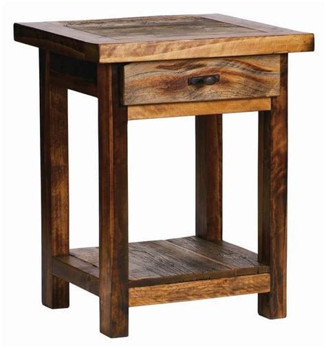 Dovetail Handcrafted Furniture - rustic santa fe nightstand w drawer