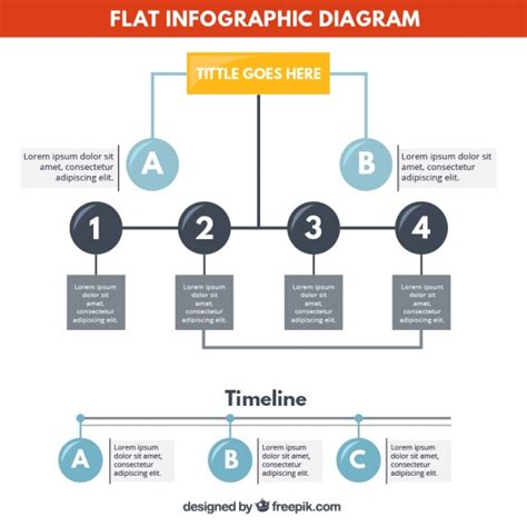 diagram infographic flat infographic diagram vector free
