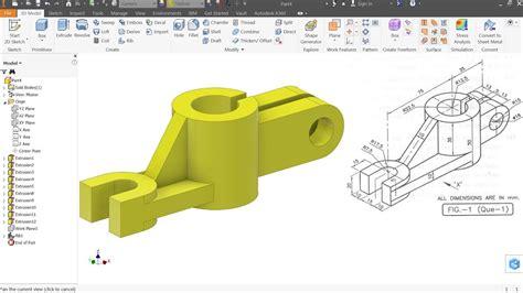 autodesk inventor tutorial  beginners exercise  youtube