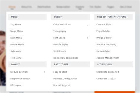 template joomla menu responsive joomla template jsn venture by joomlashine com