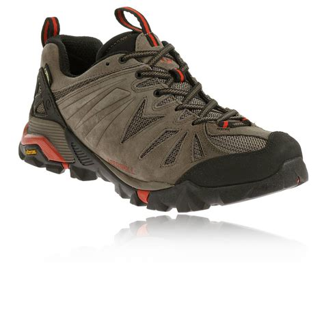 walking sports shoes merrell capra mens brown tex waterproof walking